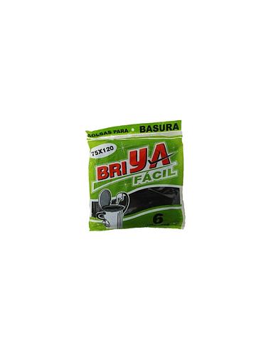 BOLSA BASURA BRIYA 75x120 PQ x 6UN